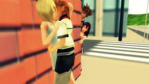 Naughty Sora and Kairi