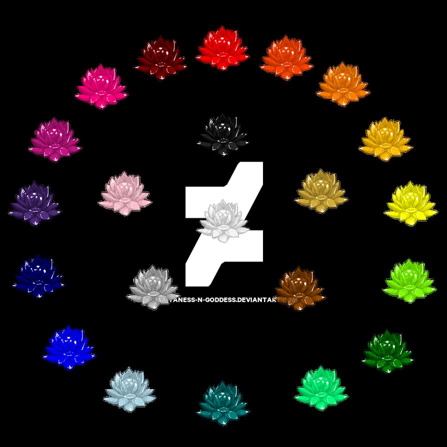Solar System's Rainbow Crystal Lotus Unites by Saiyaness-N-Goddess