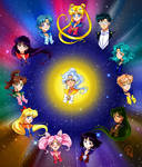 Sailor Sun Surrounded By Silver Sol Guardians by TaiyoukoArt