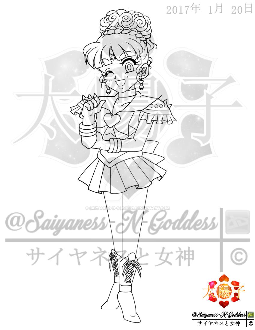 Chibi Upgraded Sailor Nemesis Wink by Saiyaness-N-Goddess