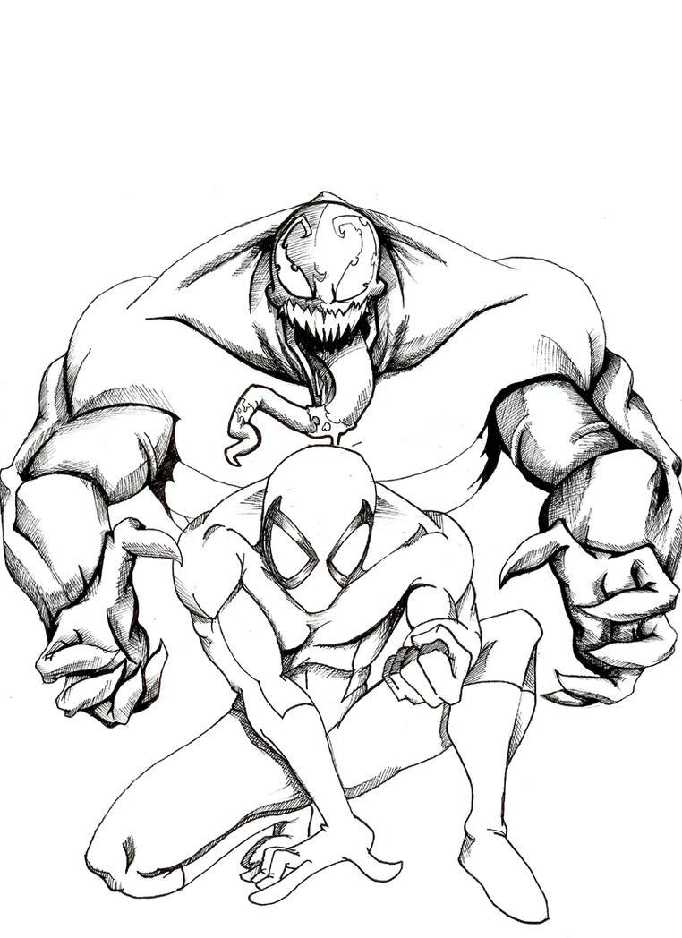 Spiderman Venom pen by BrainTreeStudios on DeviantArt