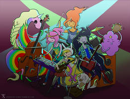 Adventure Time Girl Band by galazy