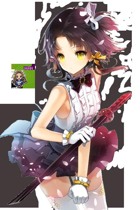 Anime girl render 20 by Nunnallyrey