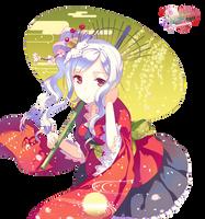 Kimono girl 1 by Nunnallyrey
