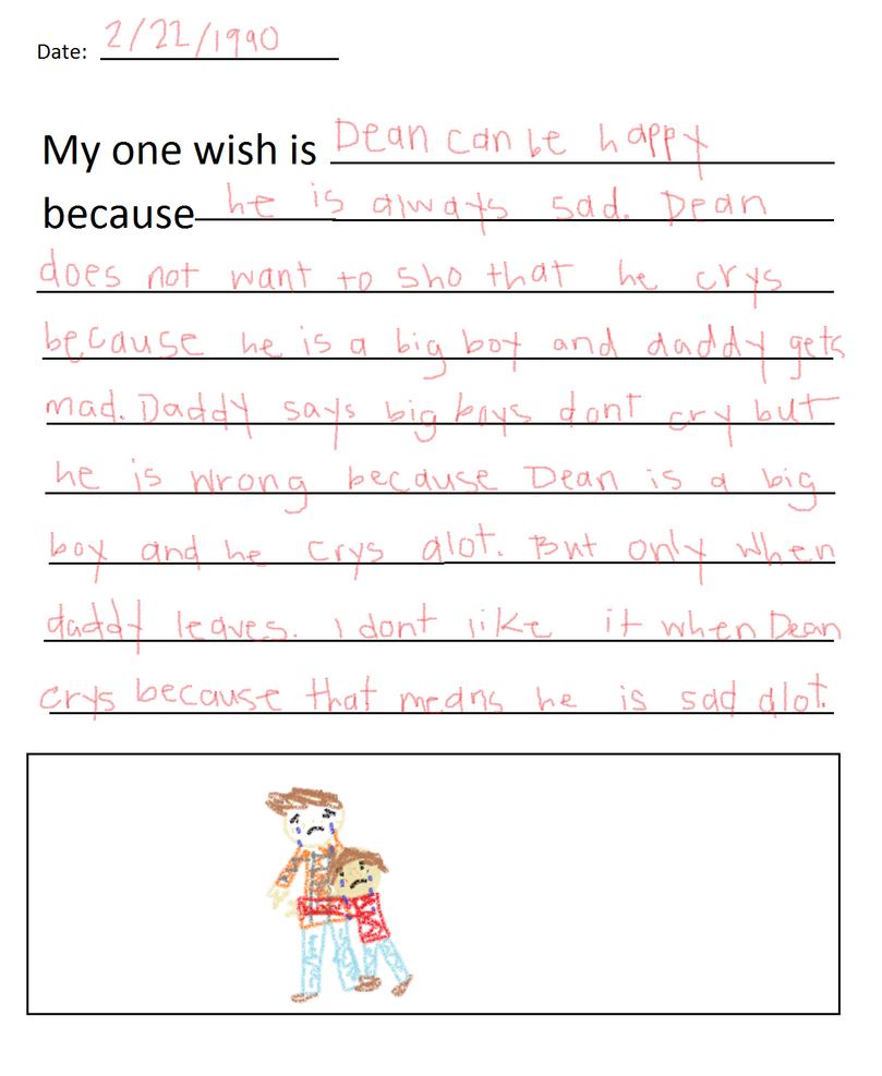 Sam Winchester's 3rd Grade Journal-Wish by XxRazorbladeLovexX