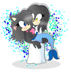 Sonic Couple commission for annonmyous