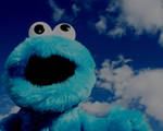 Cookie Monster in heaven