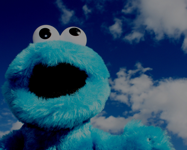 Cookie Monster in heaven