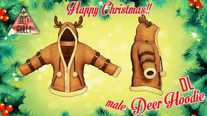 [MMD]  Male Deer Hoodie Happy Christmas! (DL GIFT)