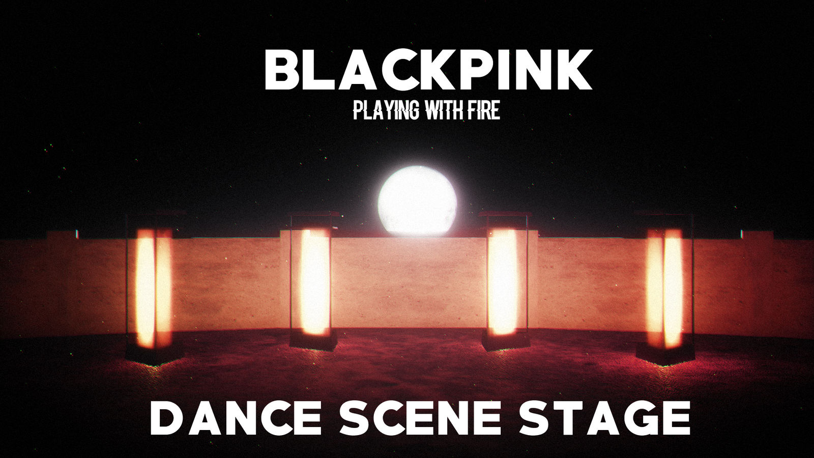 MMD]BLACKPINK - PLAYING WITH FIRE(DANCE STAGE DL) by