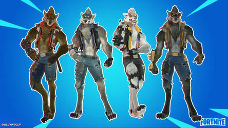 Fortnite - Werewolf (Dire) Pack (Model DL) MMD by DollyMolly323