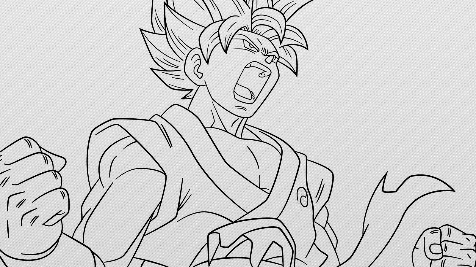 Super Saiyan Goku #1 (Line-Art) By AubreiPrince On DeviantArt
