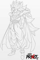 Super Saiyan 3 Gohan [Line-Art] by AubreiPrince