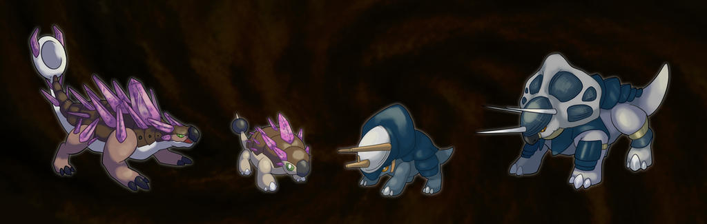 Fossil pokemon by ShinyGazza