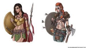 Fantasy Warrior Ladies