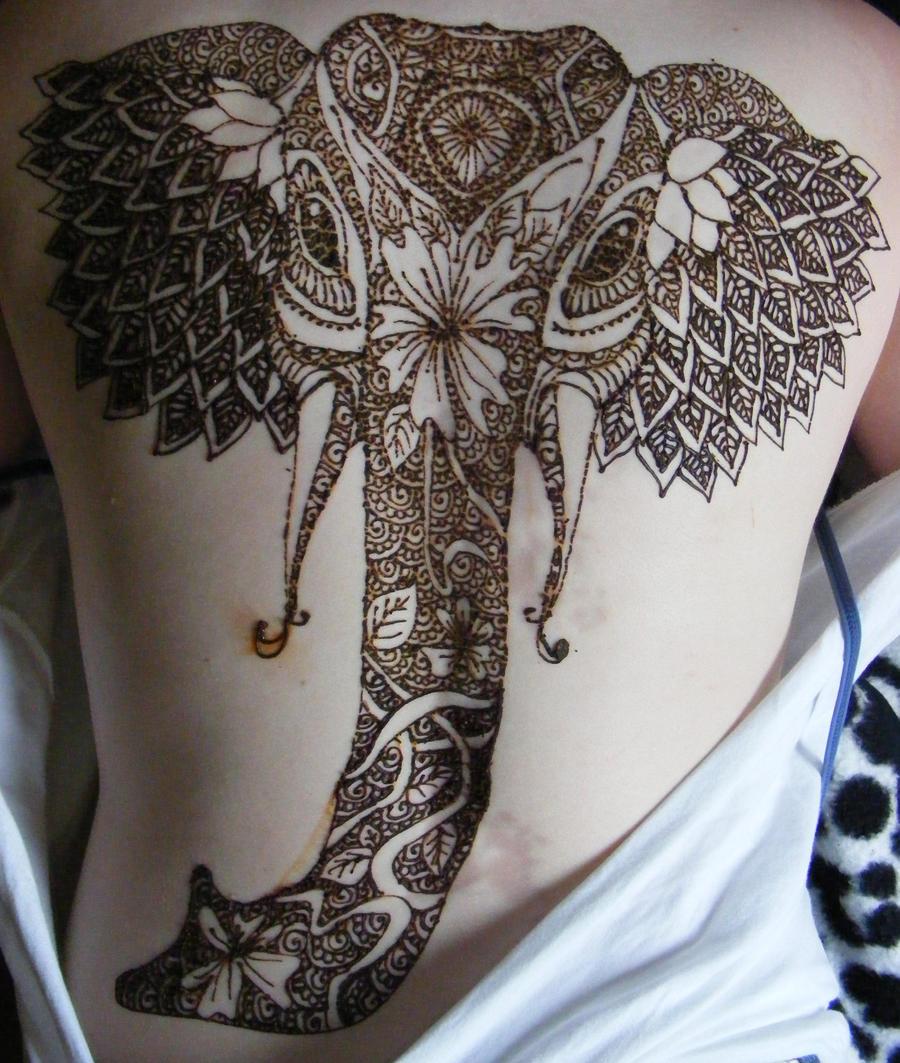 elephant henna by Monaku