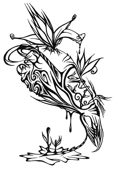 Dragon lily by blatodea on deviantart for Dragon lily tattoo
