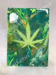 Marijuana weed leaf fluid abstract canvas
