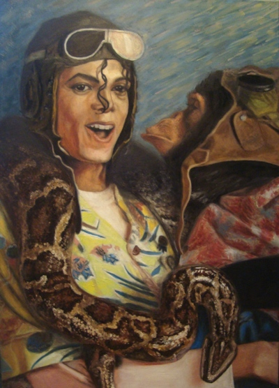 Michael by artistas - Página 2 Michael_Jackson_and_his_pets_by_30thousandfaces