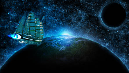 The galaxy boat by Arrack34