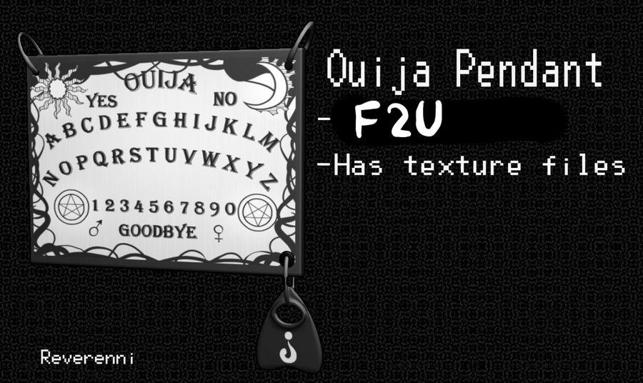 F2U Ouija Board Pendant MMD by Reverennii on DeviantArt