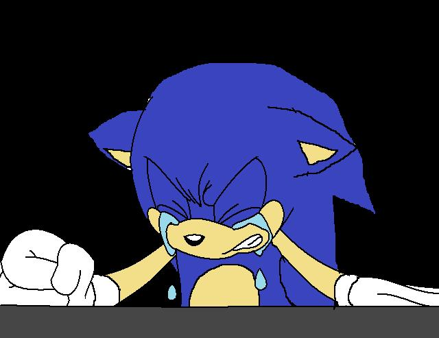 Sonic Crying By Sontailss On Deviantart