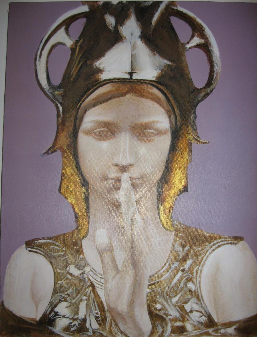 bust of athena by Flrmprtrix