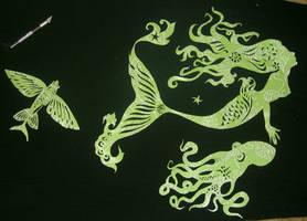 Aquatic papercuts