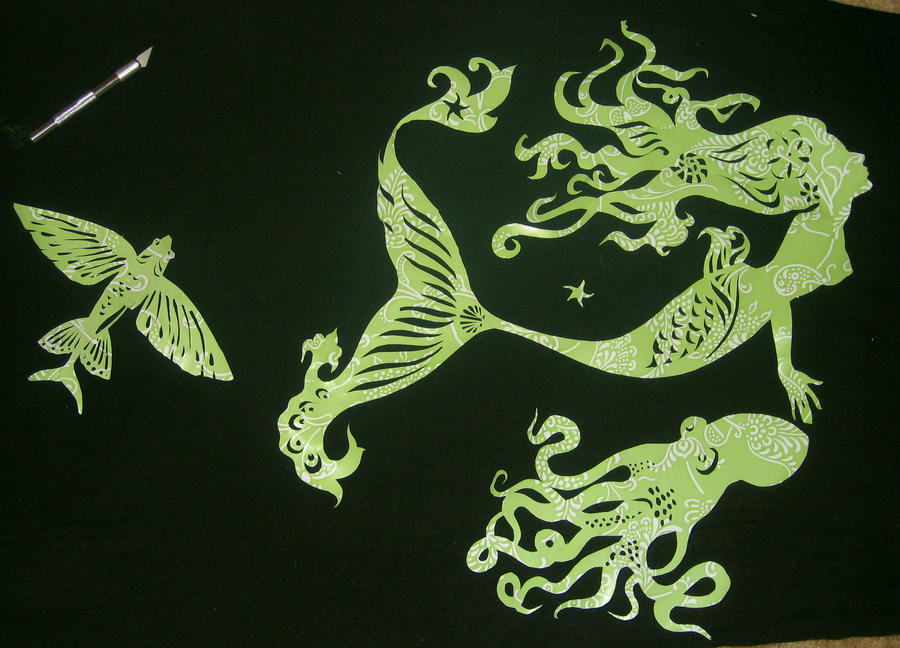 Aquatic papercuts by Flrmprtrix