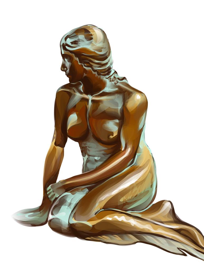 Copenhagen mermaid by Flrmprtrix