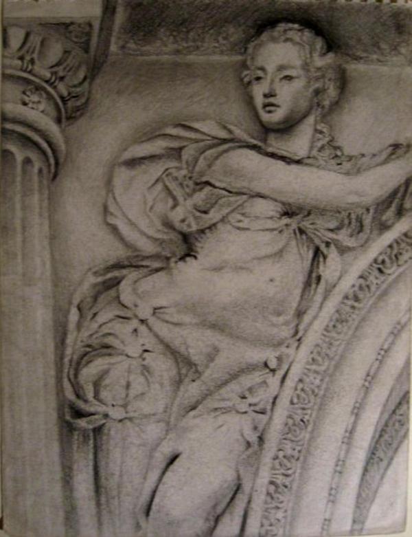 classical sculpture pencil study by Flrmprtrix