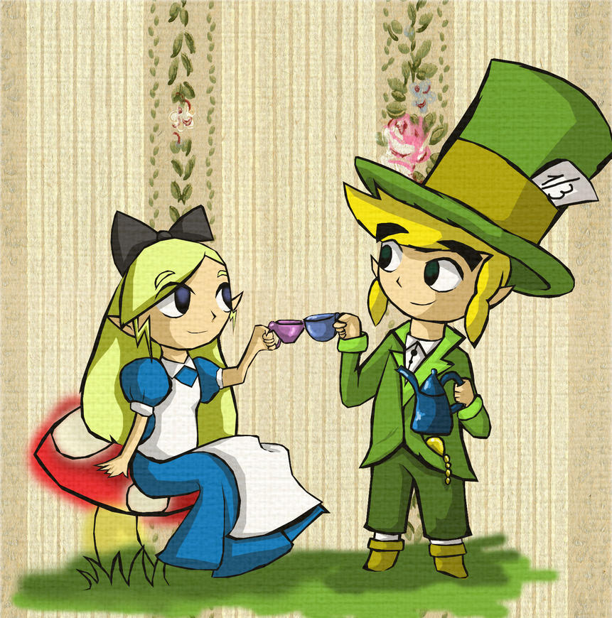 Zelda In Wonderland By CuteSkitty