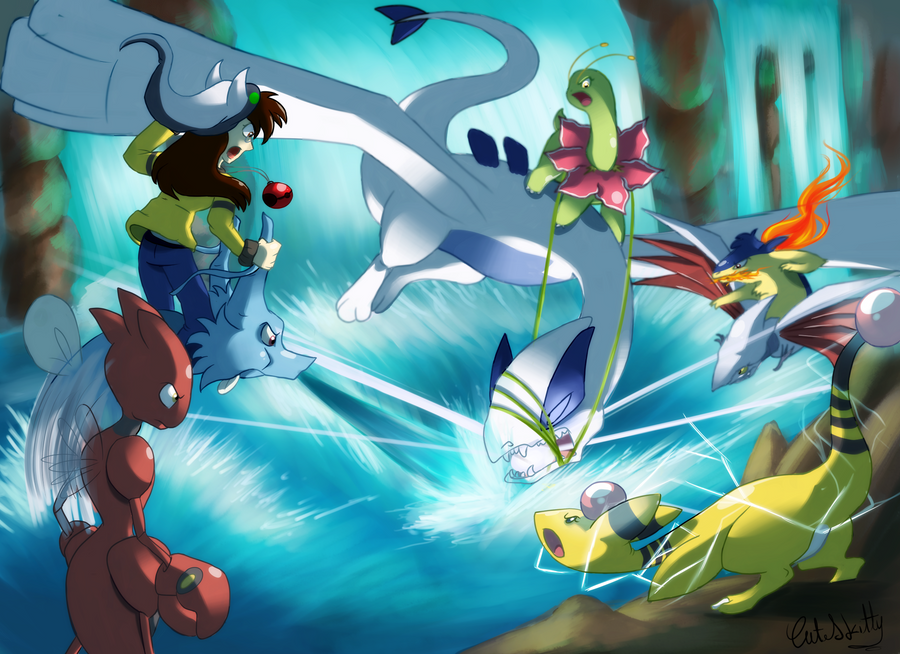 lugia battle by CuteSkitty