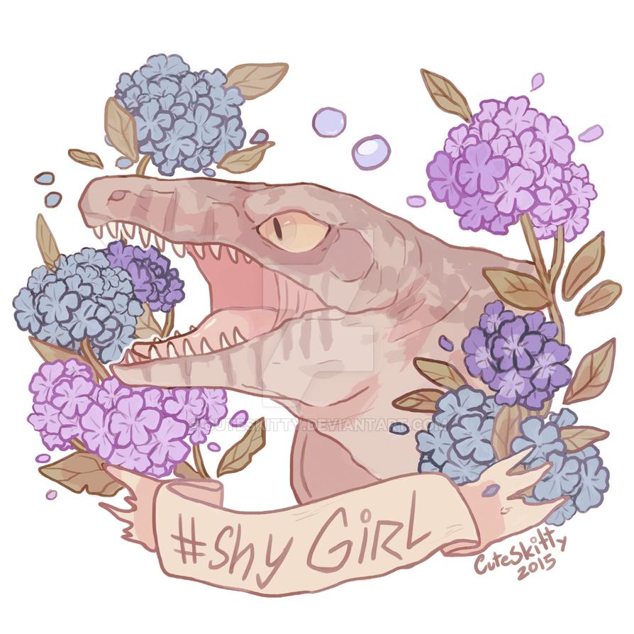 Shy girl by CuteSkitty