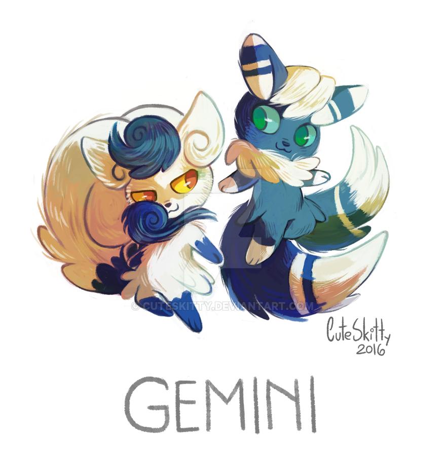 Anime Characters Gemini : Pokemon zodiac gemini by cuteskitty on deviantart