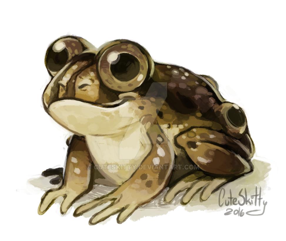 Four Eyed Frog by CuteSkitty
