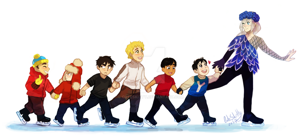 Smol Skaters by CuteSkitty