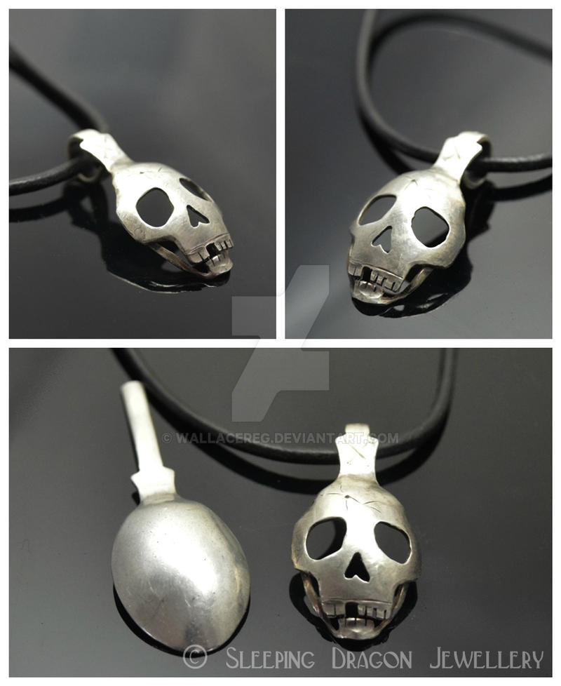 Spoon Skull Pendant by WallaceReg