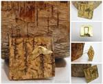 moth on bark brooch