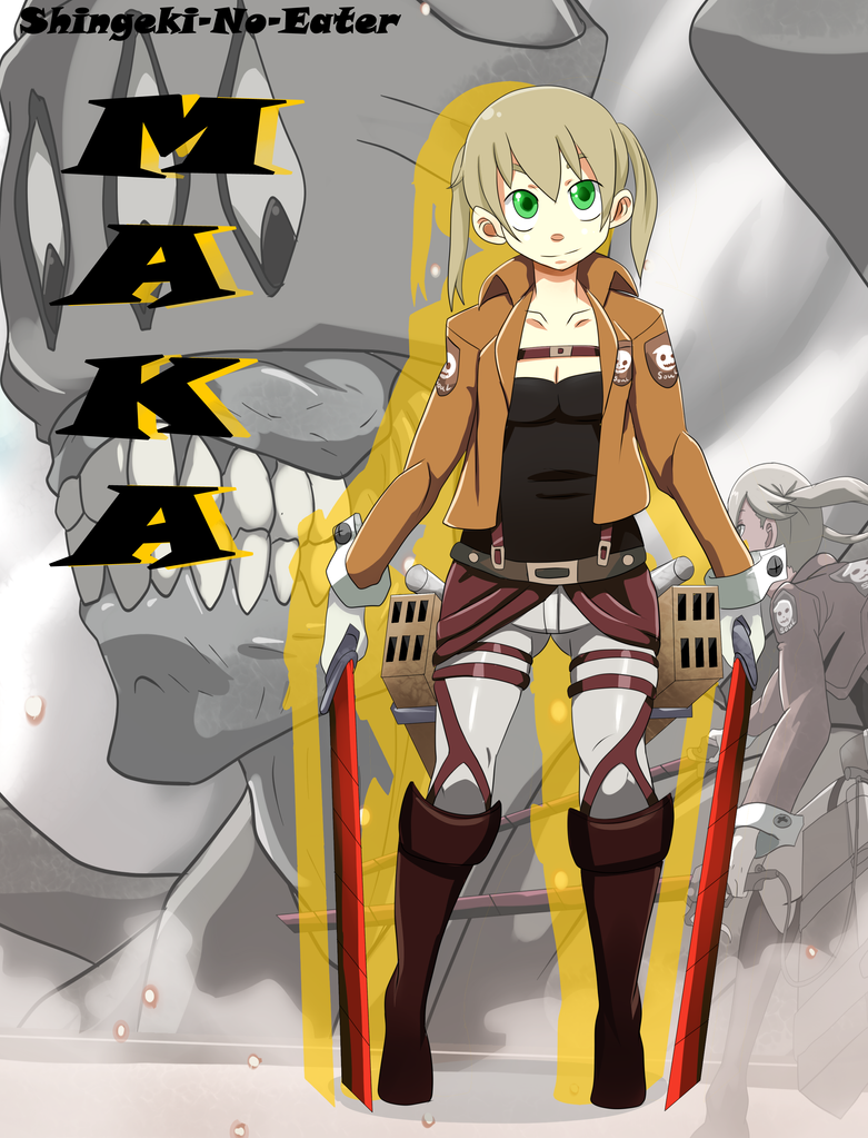 Shingeki-no-Eater Maka by ArttMadness