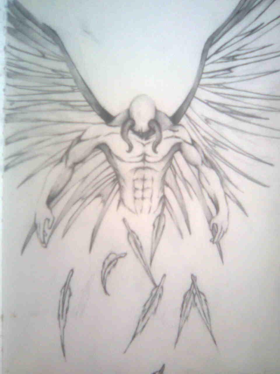 fallen angel tattoo drawing design idea | Drawing ...