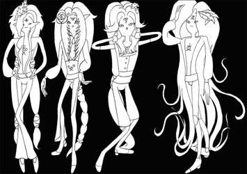 Adventure Time Lesidhe Princes by LikaLaruku
