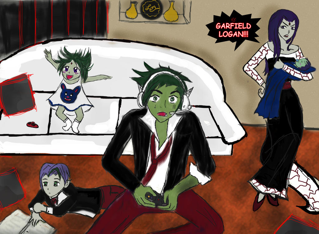 Beastboy and Raven by lesliemint on DeviantArt | 1024 x 753 jpeg 189kB
