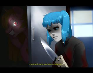 Sally Face anime fake scene by Sketch1000GRAU