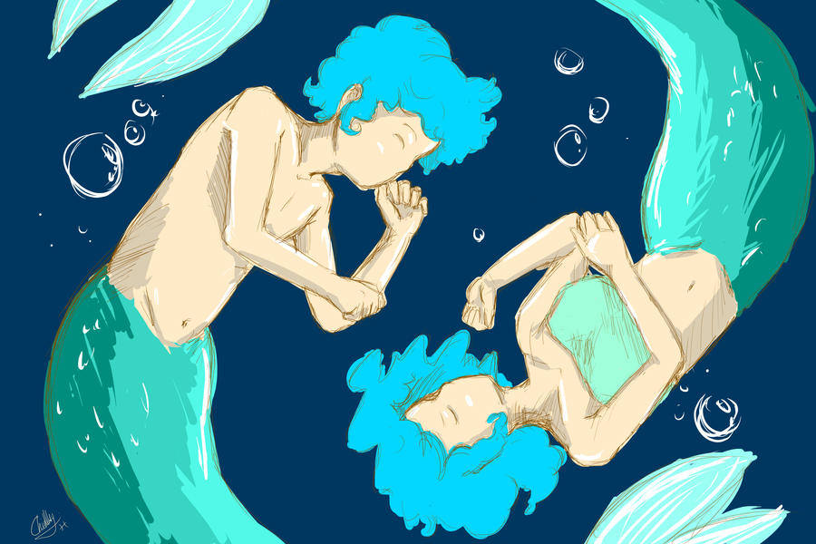 Pisces The Twin Mermaids By CapellaChan