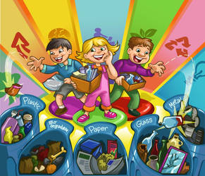 Recycle Game Illustration by Hahnsel