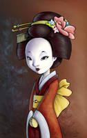 Geisha - colored by Hahnsel
