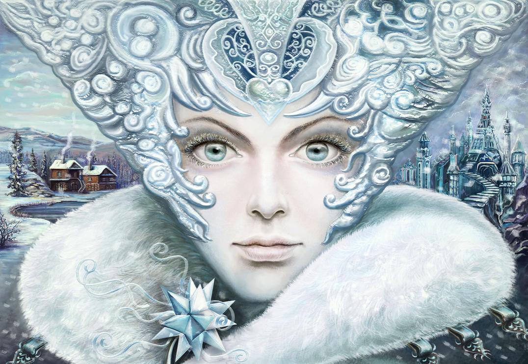 Winter girl by Vilenchik