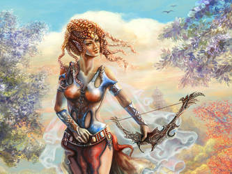 Elf woman, released arrow by Vilenchik
