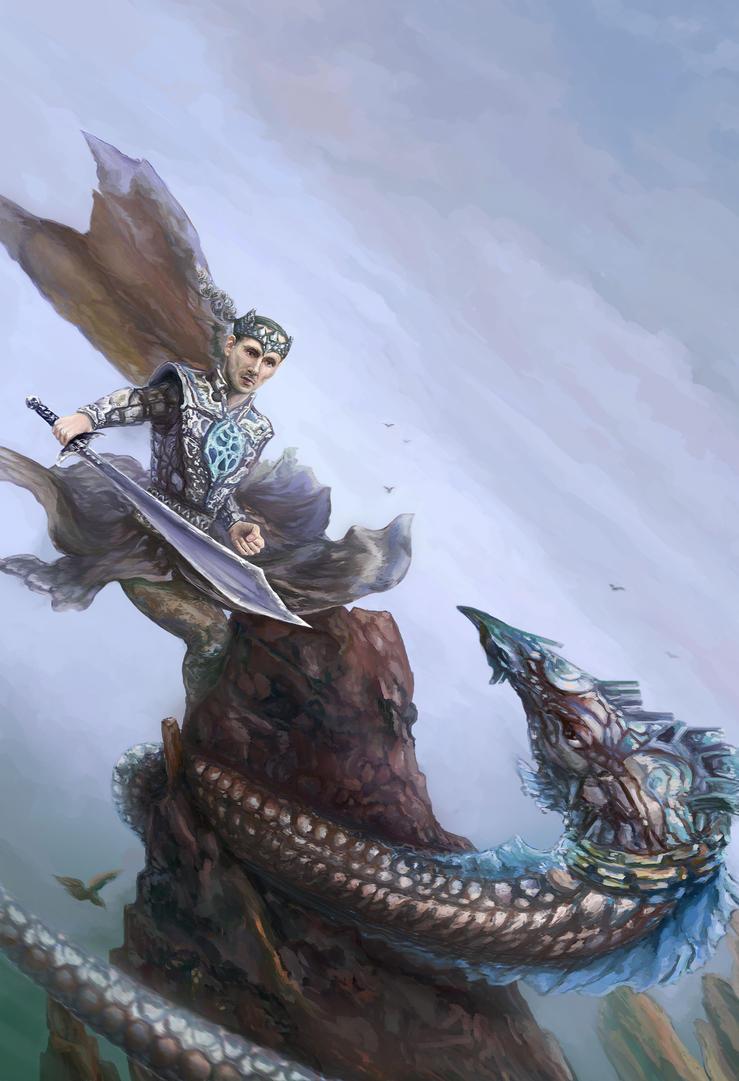 Knight in fight by Vilenchik